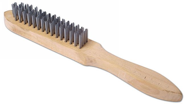 Wire Brush 4 Row Wooden Handle (G)