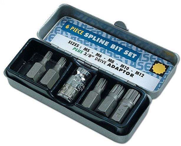 "Spline Bit Set - 3/8""D 6pc     (AH)"