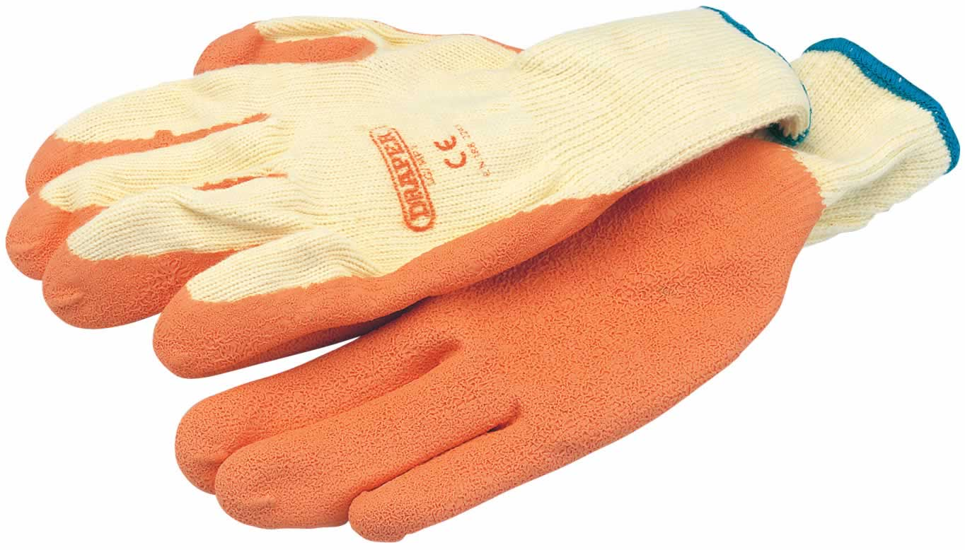 EXPERT ORANGE HEAVY DUTY LATEX COATED WORK GLOVES - LARGE