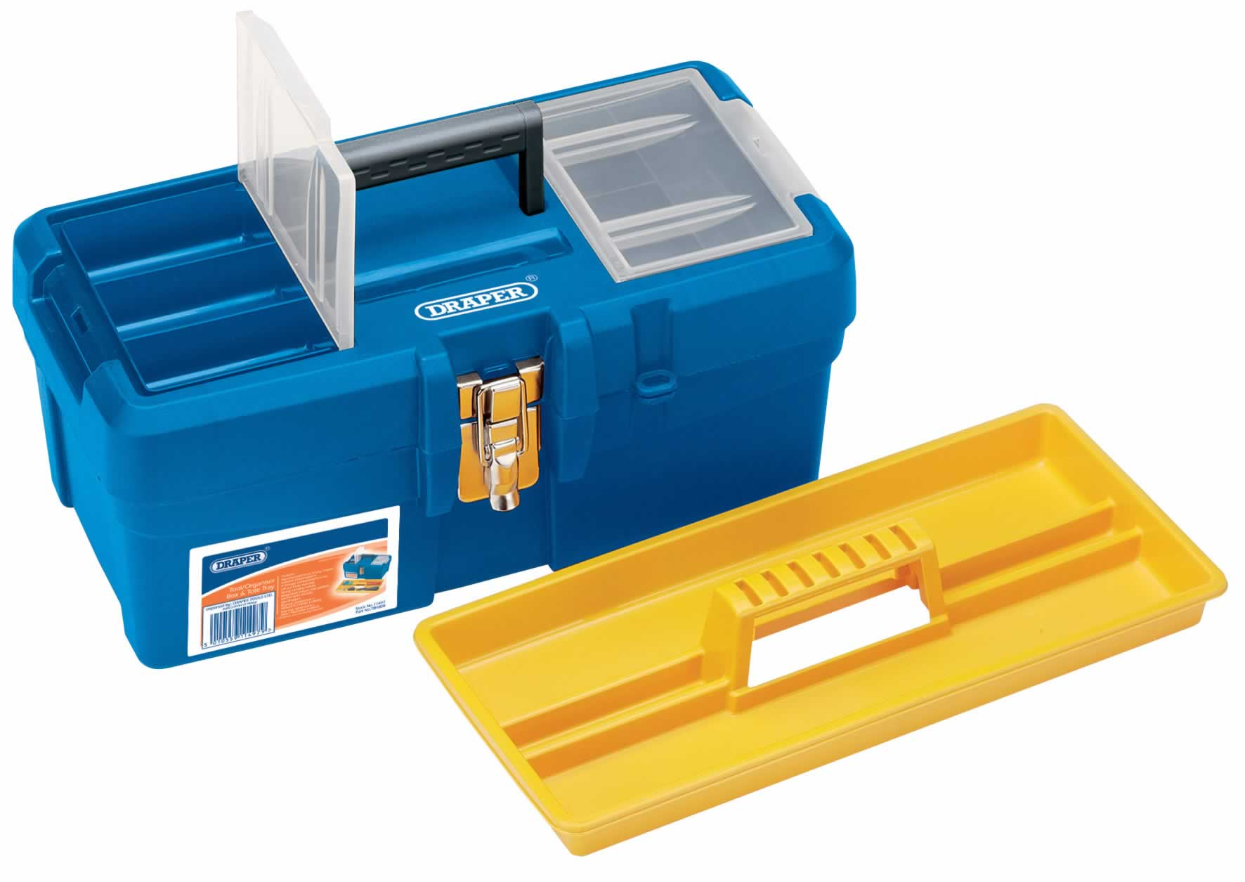 TOOL/ORGANISER BOX WITH TOTE TRAY - 400 x 207 x 178MM