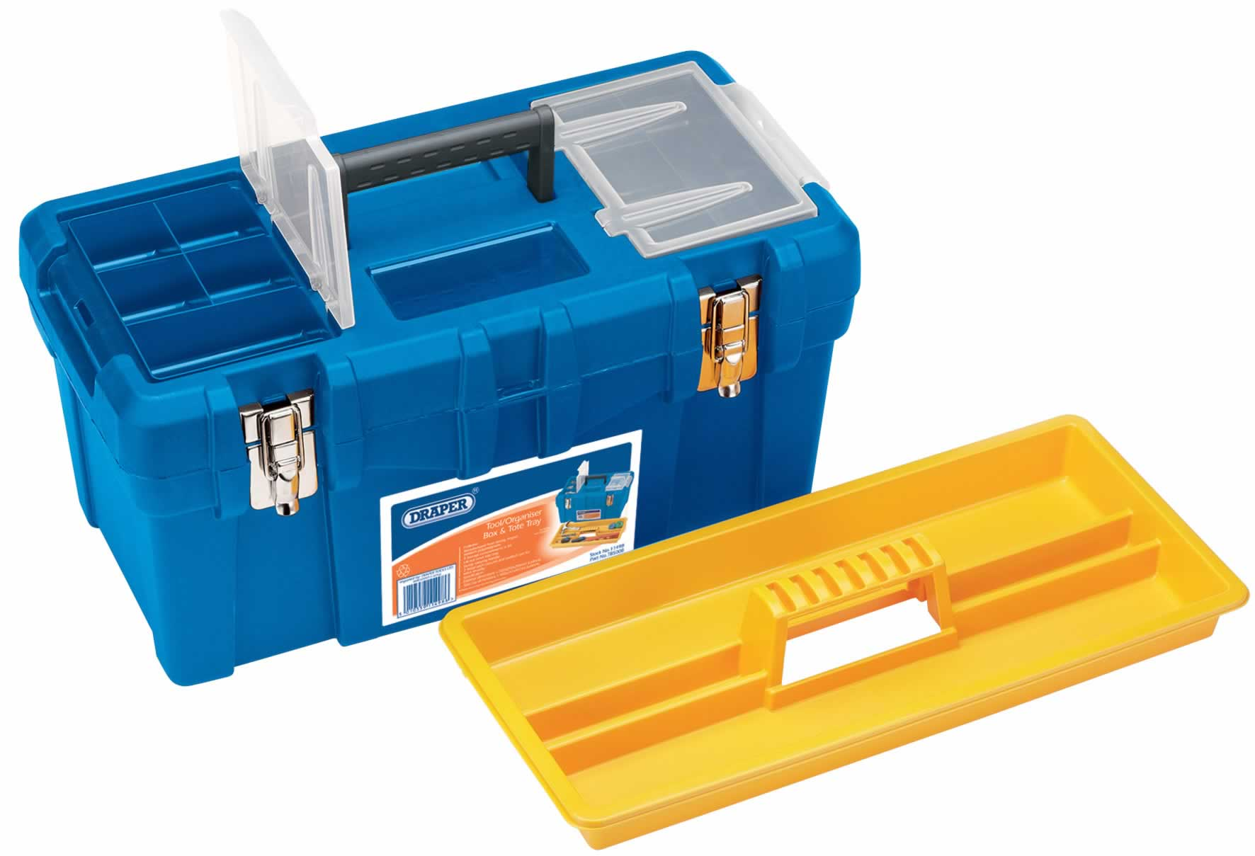 TOOL/ORGANISER BOX WITH TOTE TRAY - 500 x 250 x 250MM