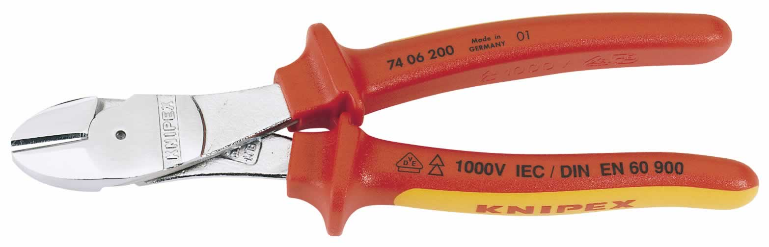 200MM KNIPEX FULLY INSULATED HIGH LEVERAGE DIAGONATER     (G)