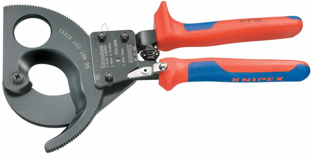 280MM KNIPEX RATCHET ACTION CABLE CUTTER   (G)