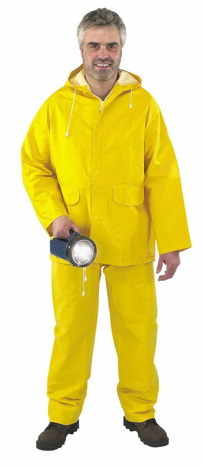 2 PIECE YELLOW RAIN SUIT - SIZE L