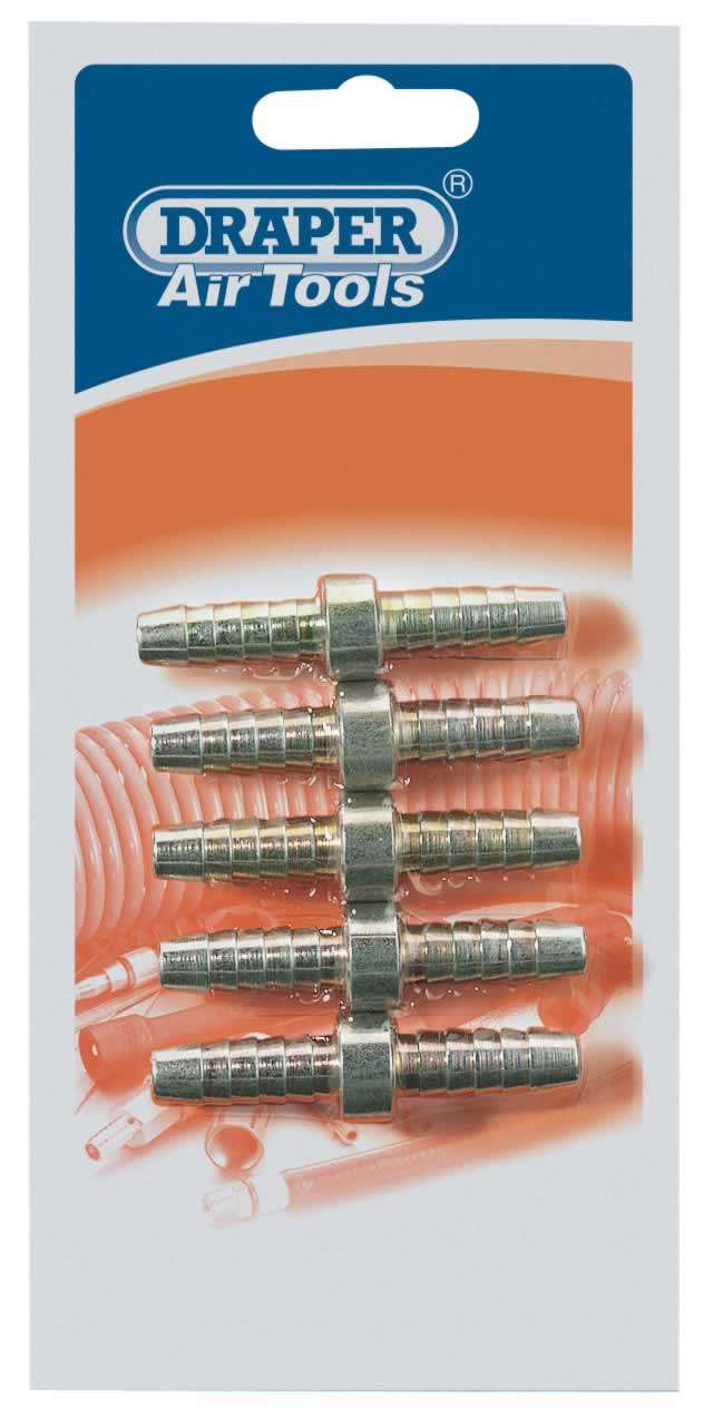 "5/16"" PCL DOUBLE ENDED AIR HOSE CONNECTOR PACK OF 5"