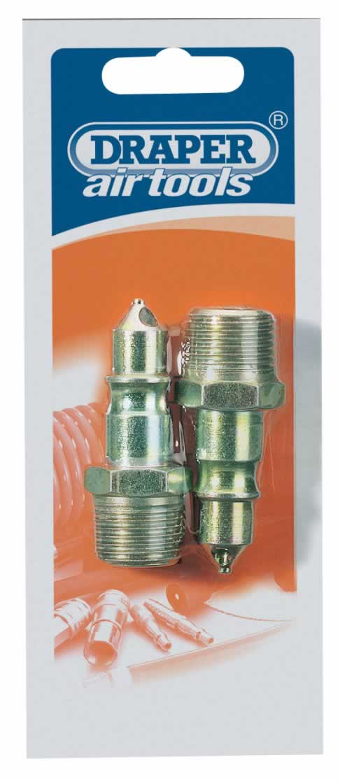 "1/2"" MALE THREAD AIR LINE SCREW ADAPTOR CONNECTORS PACK OF 2"