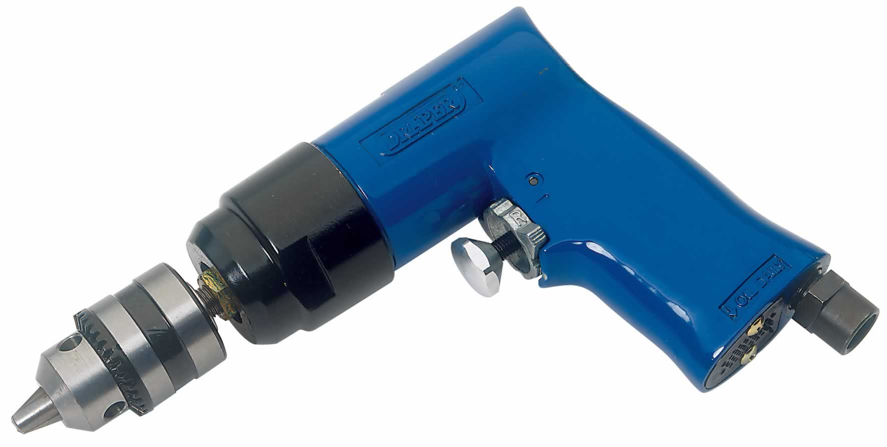 REVERSIBLE AIR DRILL WITH 10MM GEARED CHUCK
