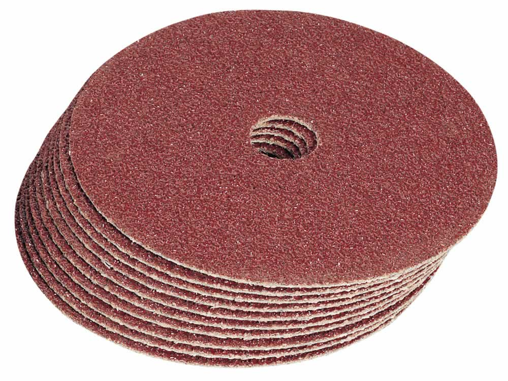 100MM 60GRIT ALUMINIUM OXIDE SANDING DISCS PACK OF 10