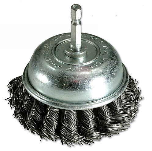 Twist Knot Cup Brush With QC End - 75mm