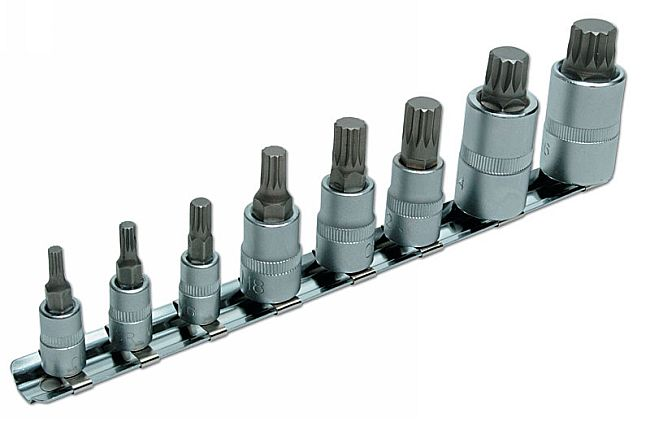 Spline Bit Set 8pc  (AH)