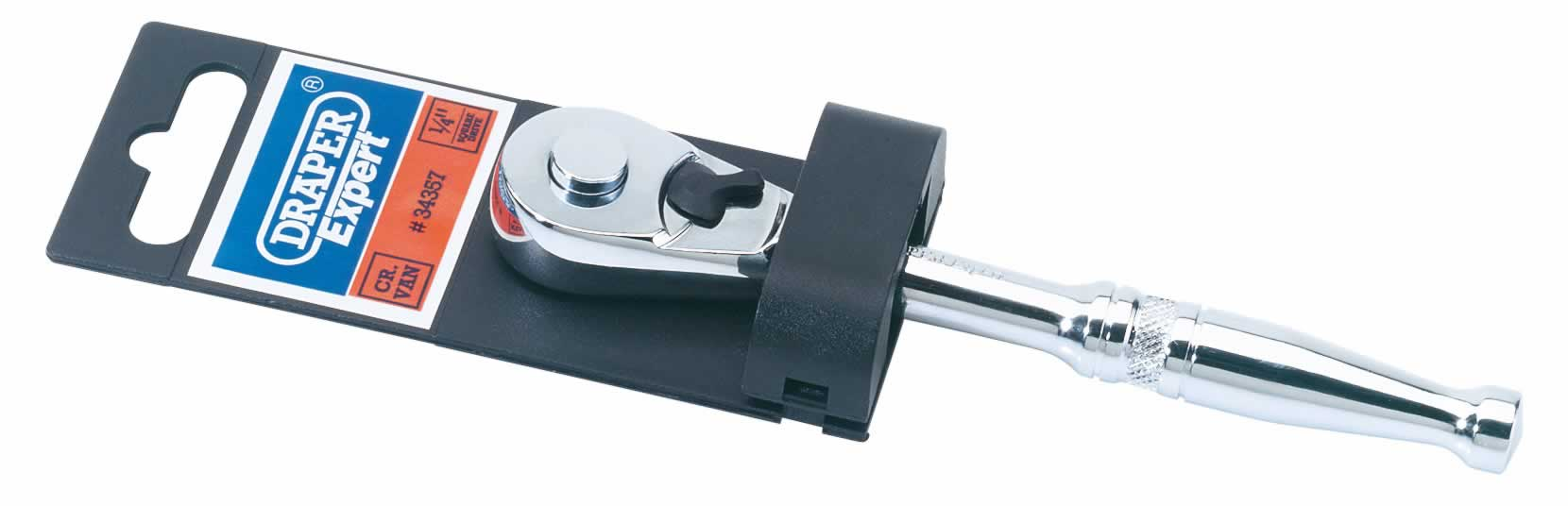 "EXPERT 1/4"" SQUARE DRIVE QUICK RELEASE REVERSIBLE RATCHET"