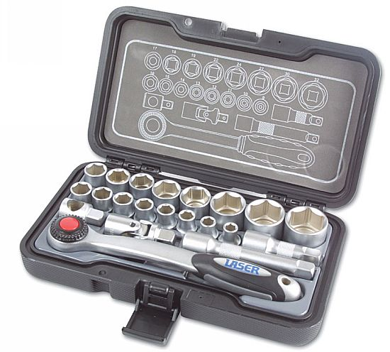 "Socket Set 1/2""D 21pc  (G)"