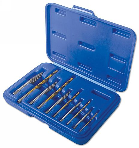 Combination Screw Extractor & Drill Set
