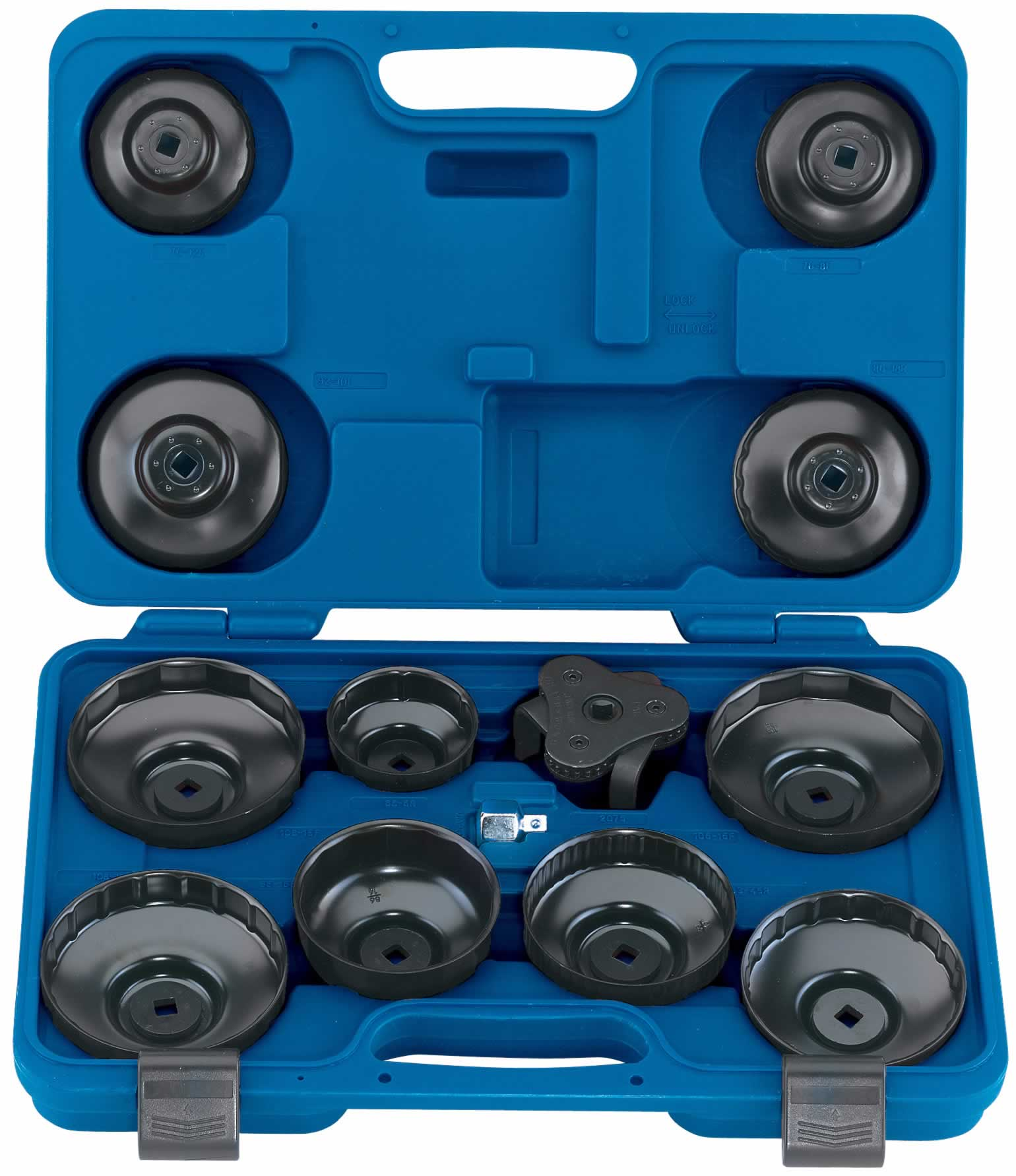"EXPERT 13 PIECE 3/8"" Sq. Dr. OIL FILTER CUP SOCKET SET"