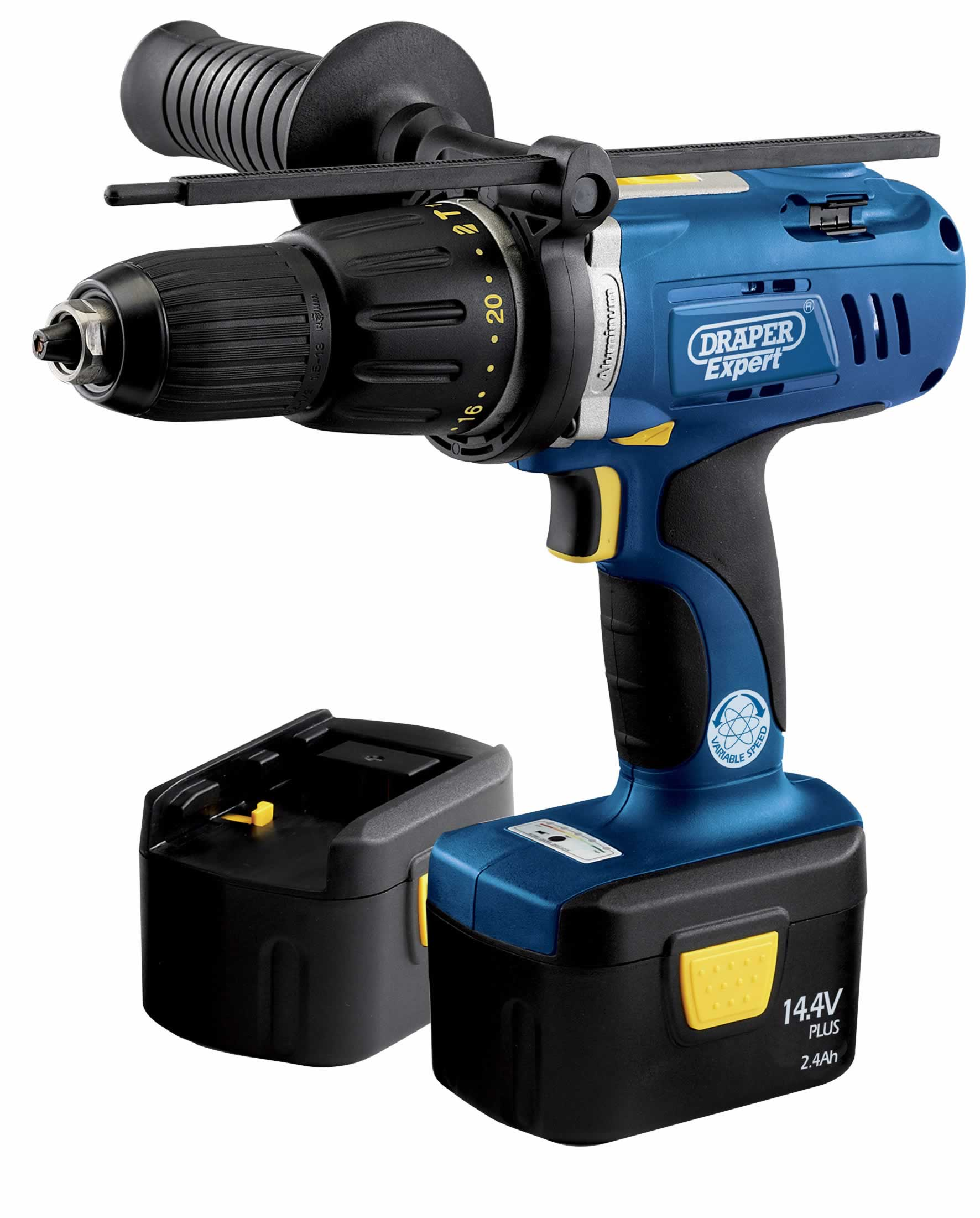 EXPERT 14.4V ELECTRONIC CORDLESS COMBINATION HAMMER DRILL 2 BATTERIES (2.4AH)