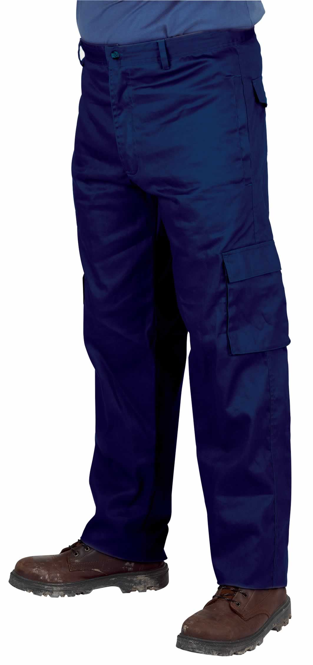 "38/32"" POLYCOTTON WORK TROUSERS"