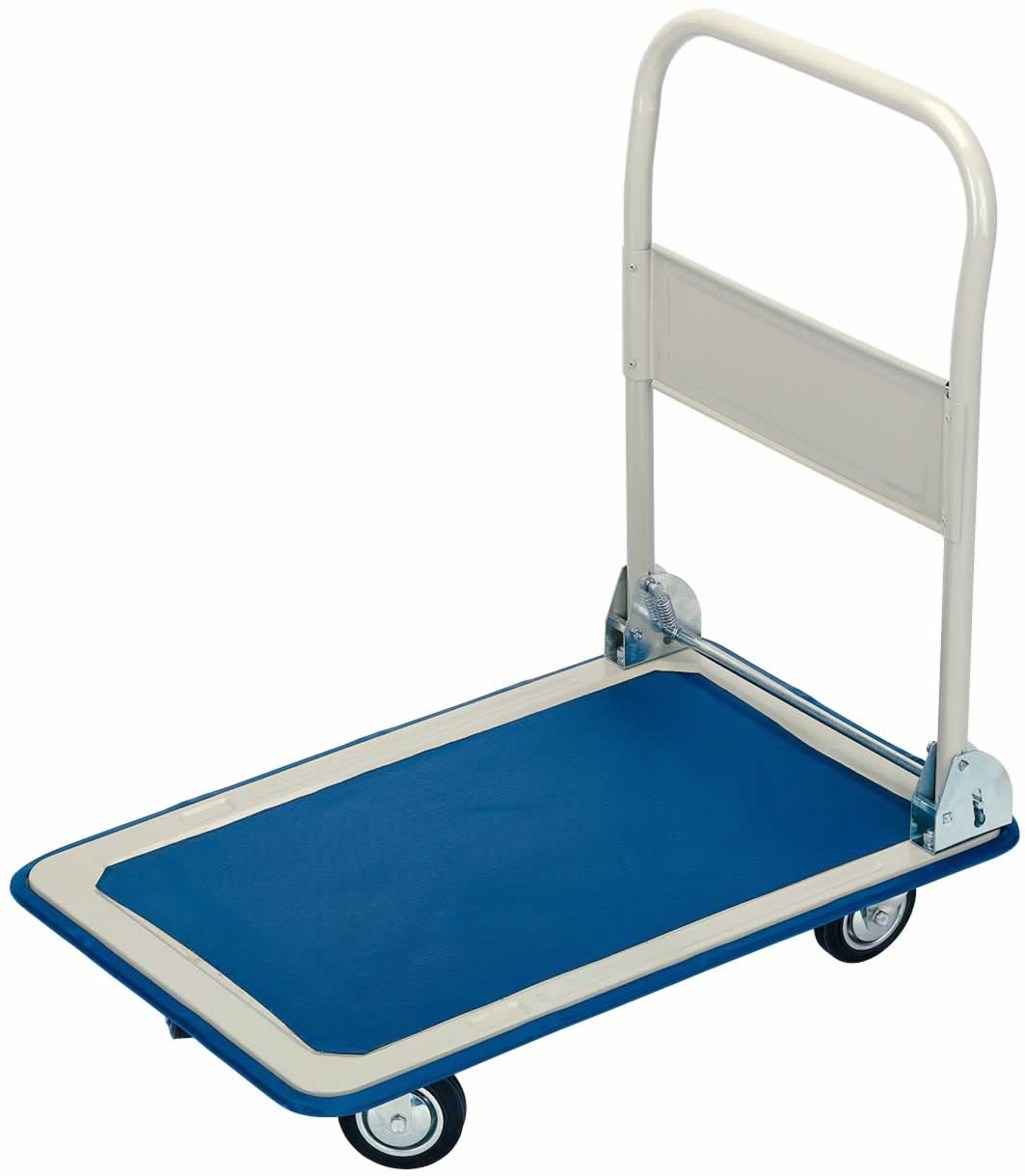 PLATFORM TROLLEY WITH FOLDING HANDLE