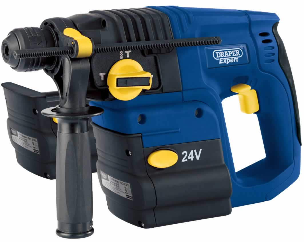 EXPERT 24V SDS+ CORDLESS 3 FUNCTION DRILL KIT WITH TWO Ni-CD BATTERIES