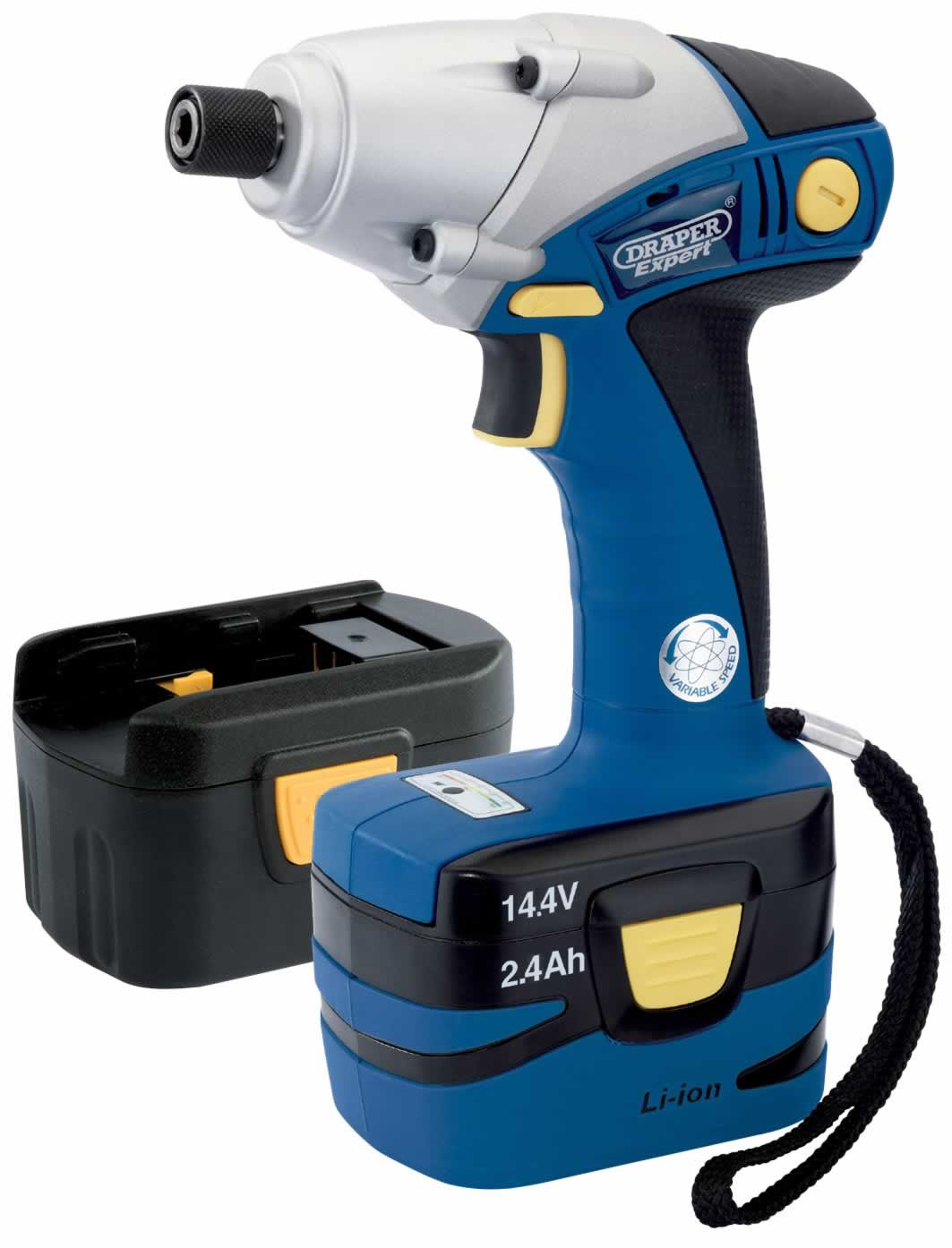 "EXPERT 14.4V CORDLESS 1/4"" HEXAGON IMPACT DRIVER WITH TWO LI-ION BATTERIES"