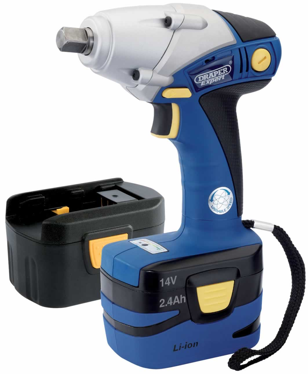 "EXPERT 14.4V CORDLESS 1/2"" Sq. Dr. IMPACT WRENCH WITH ONE LI-ION BATTERY AND ONE Ni-CD BATTERY"