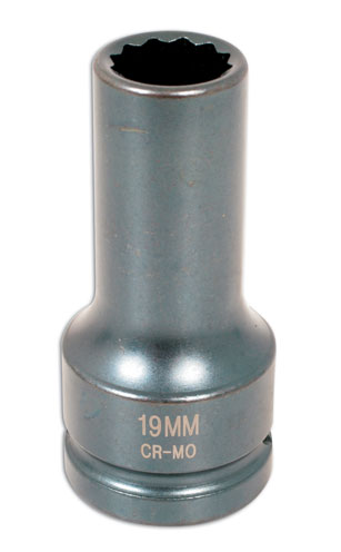 "Cylinder Head Impact Socket 19mm 3/4""DR"