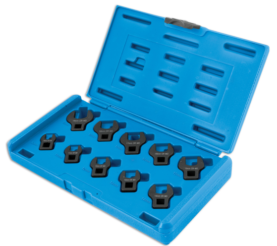 Crowsfoot Spanner Set 10pc 3/8 Drive