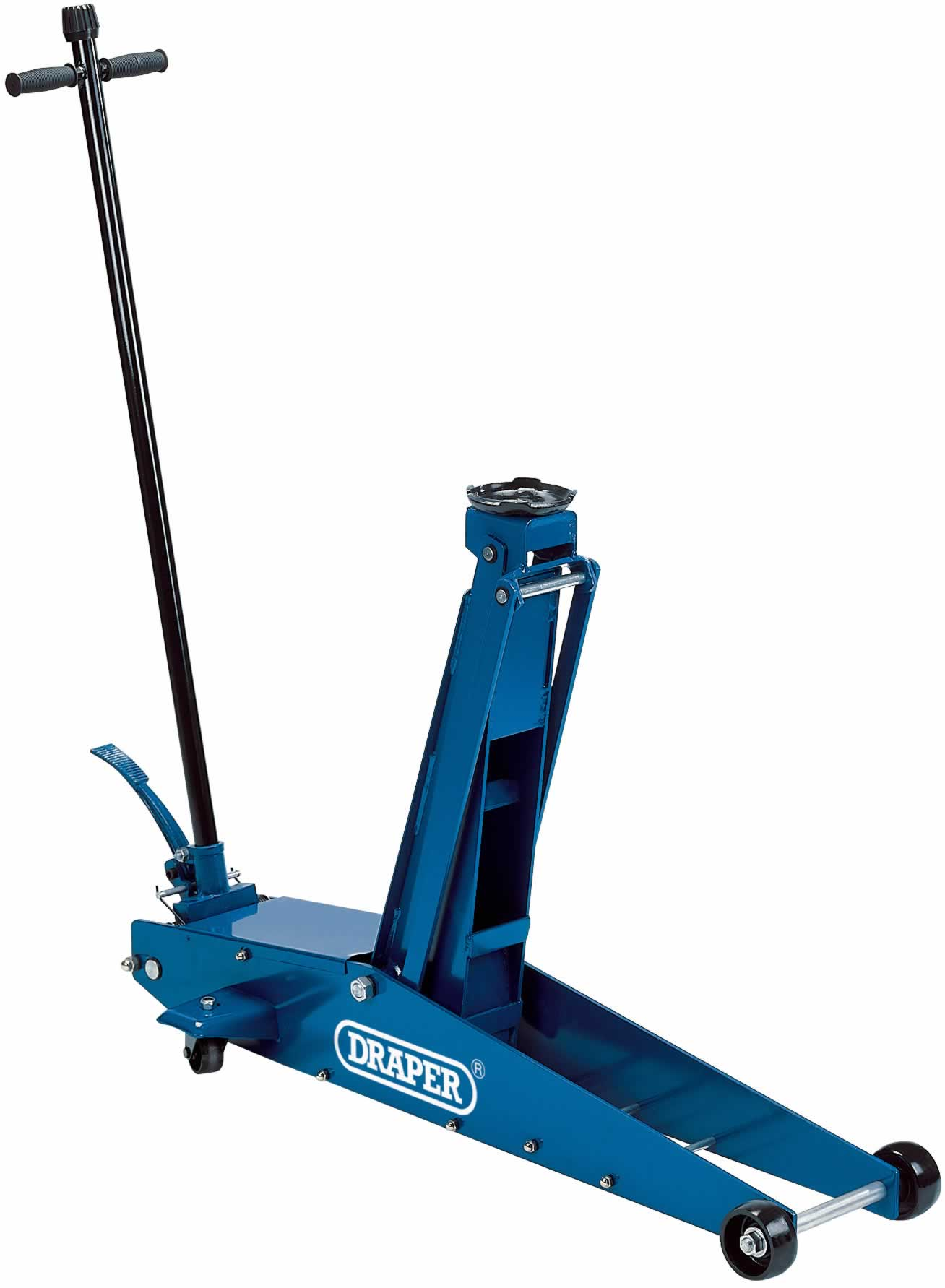 2 TONNE LONG CHASSIS HYDRAULIC TROLLEY JACK WITH 'QUICK LIFT' FACILITY