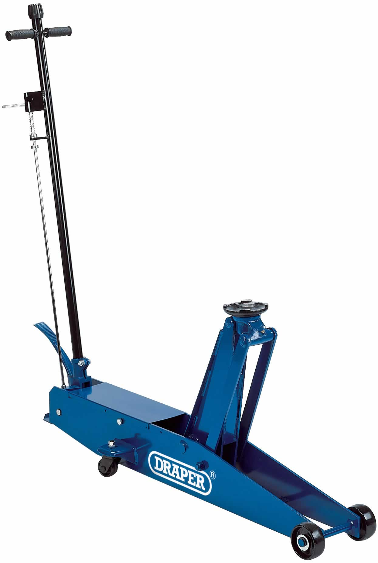 3 TONNE LONG CHASSIS HYDRAULIC TROLLEY JACK WITH 'QUICK LIFT' FACILITY