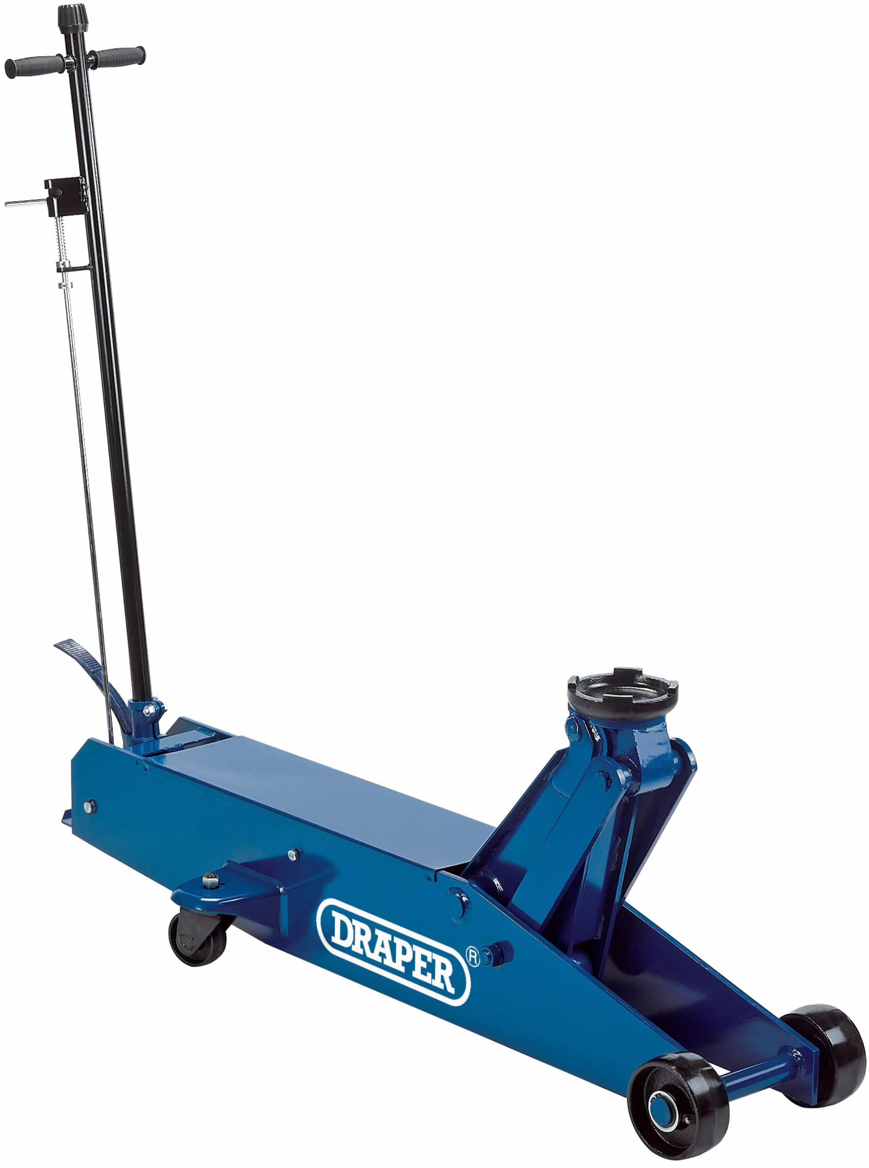10 TONNE LONG CHASSIS HYDRAULIC TROLLEY JACK WITH 'QUICK LIFT' FACILITY