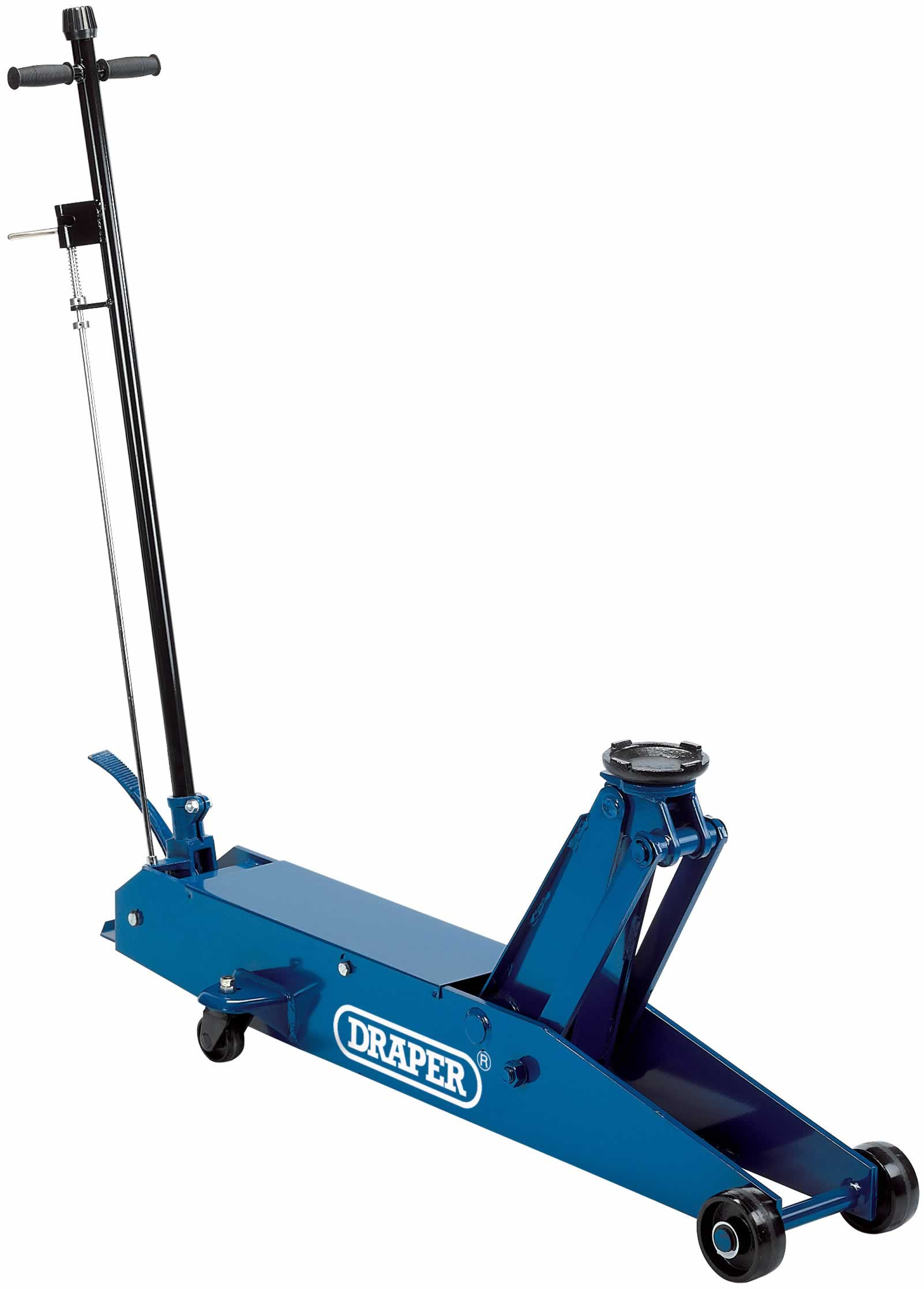 5 TONNE LONG CHASSIS HYDRAULIC TROLLEY JACK WITH 'QUICK LIFT' FACILITY