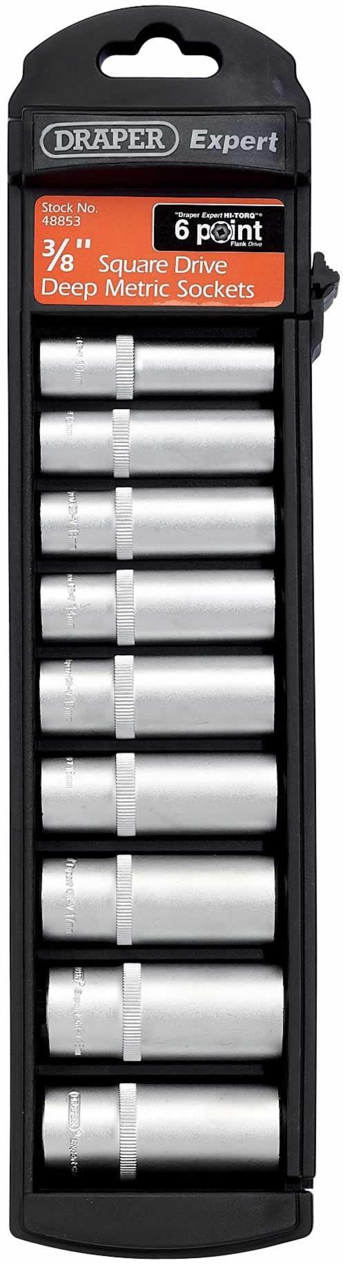 Draper 1//2 Drive Hi-Torq Deep Bi Hexagon Socket Metric 12mm