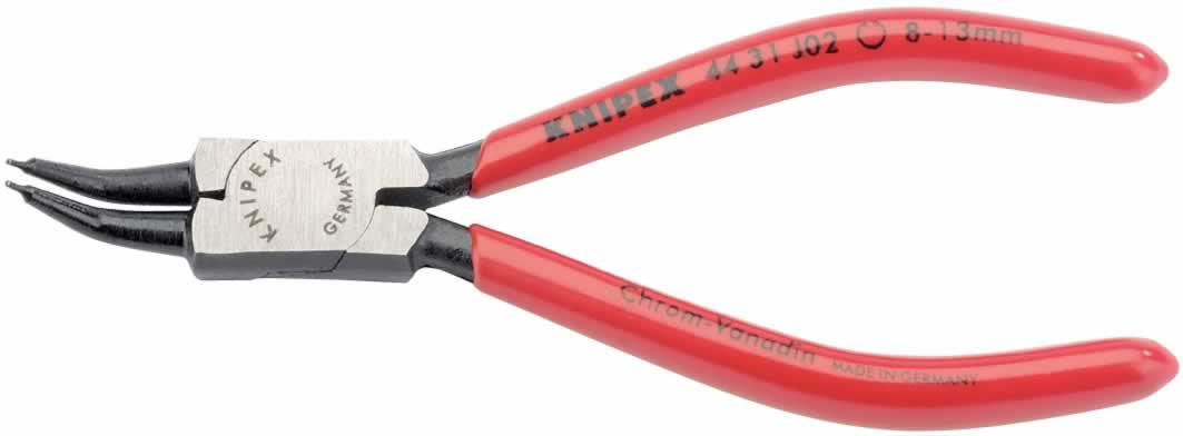 8MM - 13MM J02 KNIPEX 45¼ BENT INTERNAL CIRCLIP PLIERS  (VG)