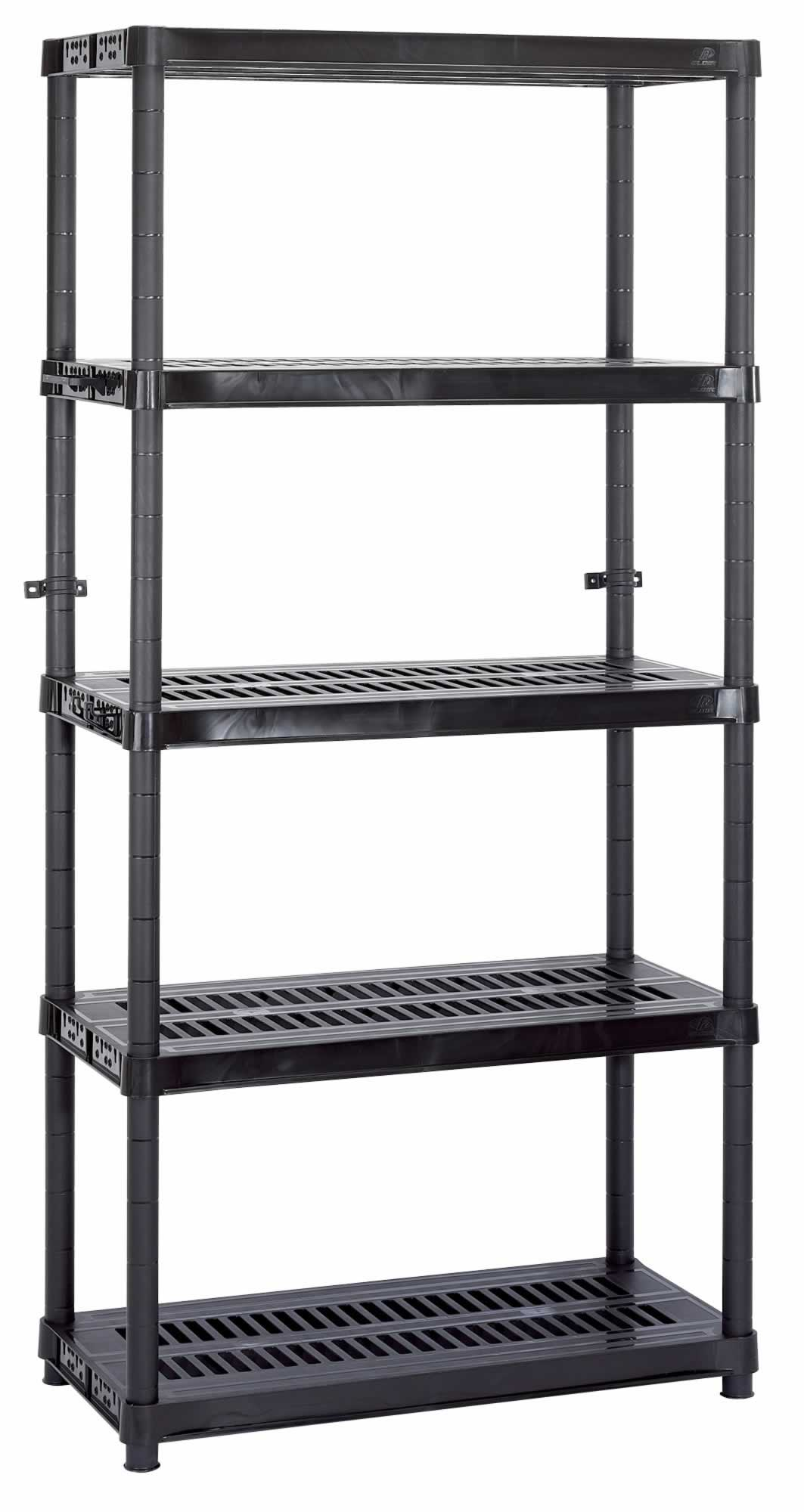 expert heavy duty plastic shelving unit five shelves l910 x w450 x h1830mm. Black Bedroom Furniture Sets. Home Design Ideas