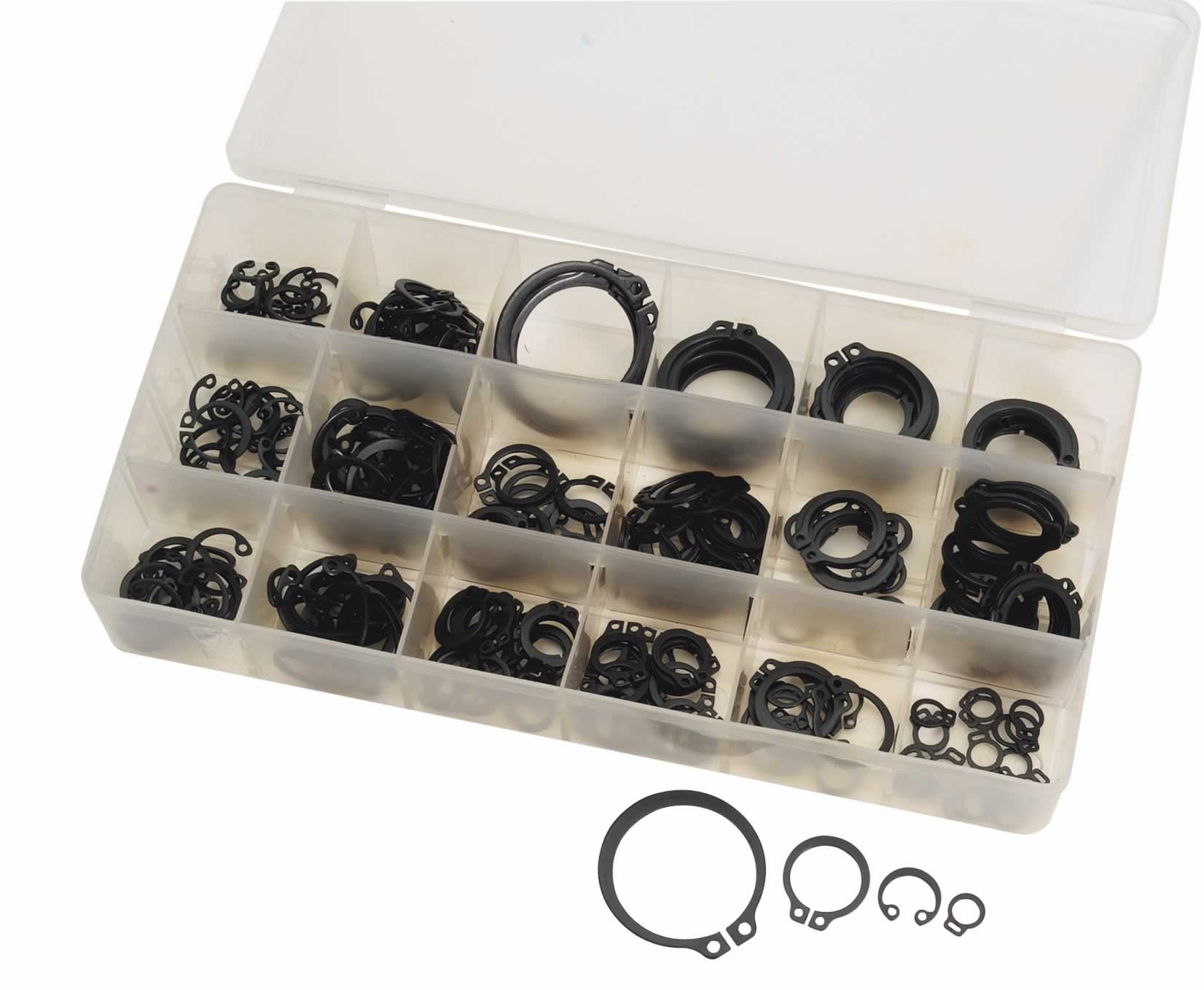 285 PIECE INTERNAL AND EXTERNAL CIRCLIP ASSORTMENT