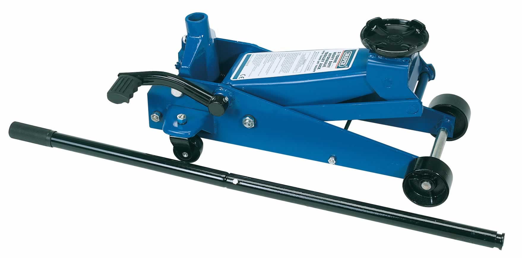 3 TONNE HEAVY DUTY GARAGE TROLLEY JACK WITH 'QUICK LIFT' FACILITY