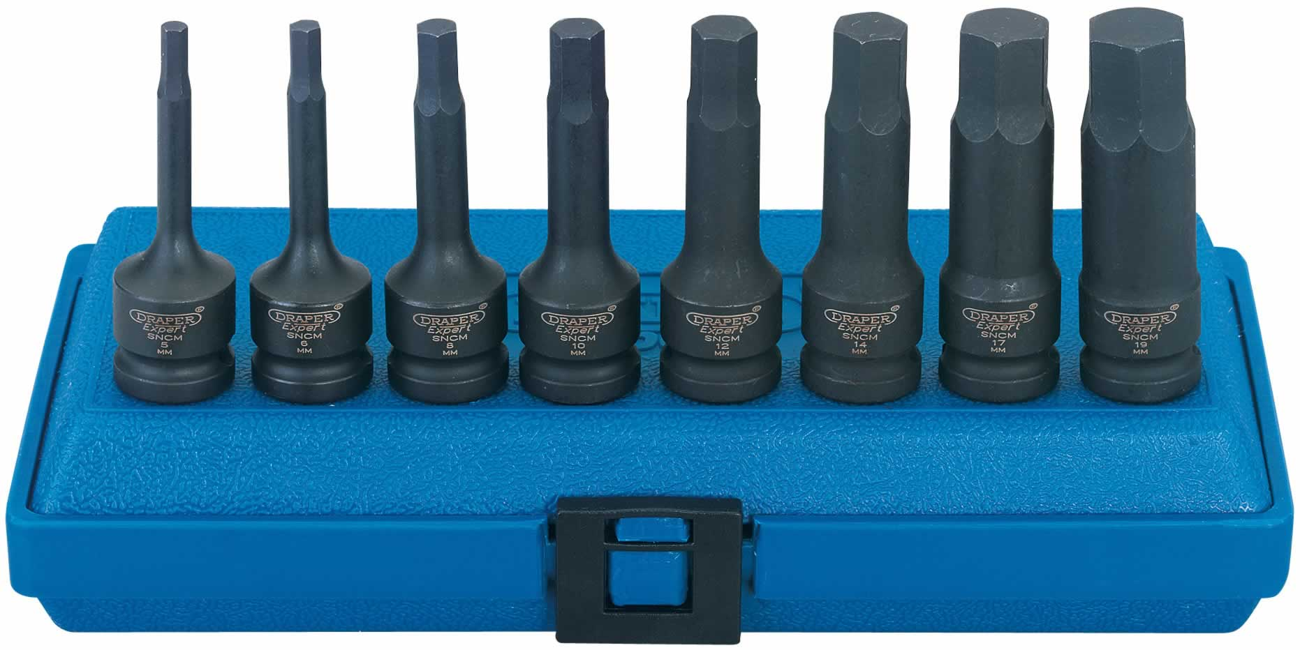 "EXPERT 8 PIECE 1/2"" Sq. Dr. IMPACT HEXAGON SOCKET BIT SET"