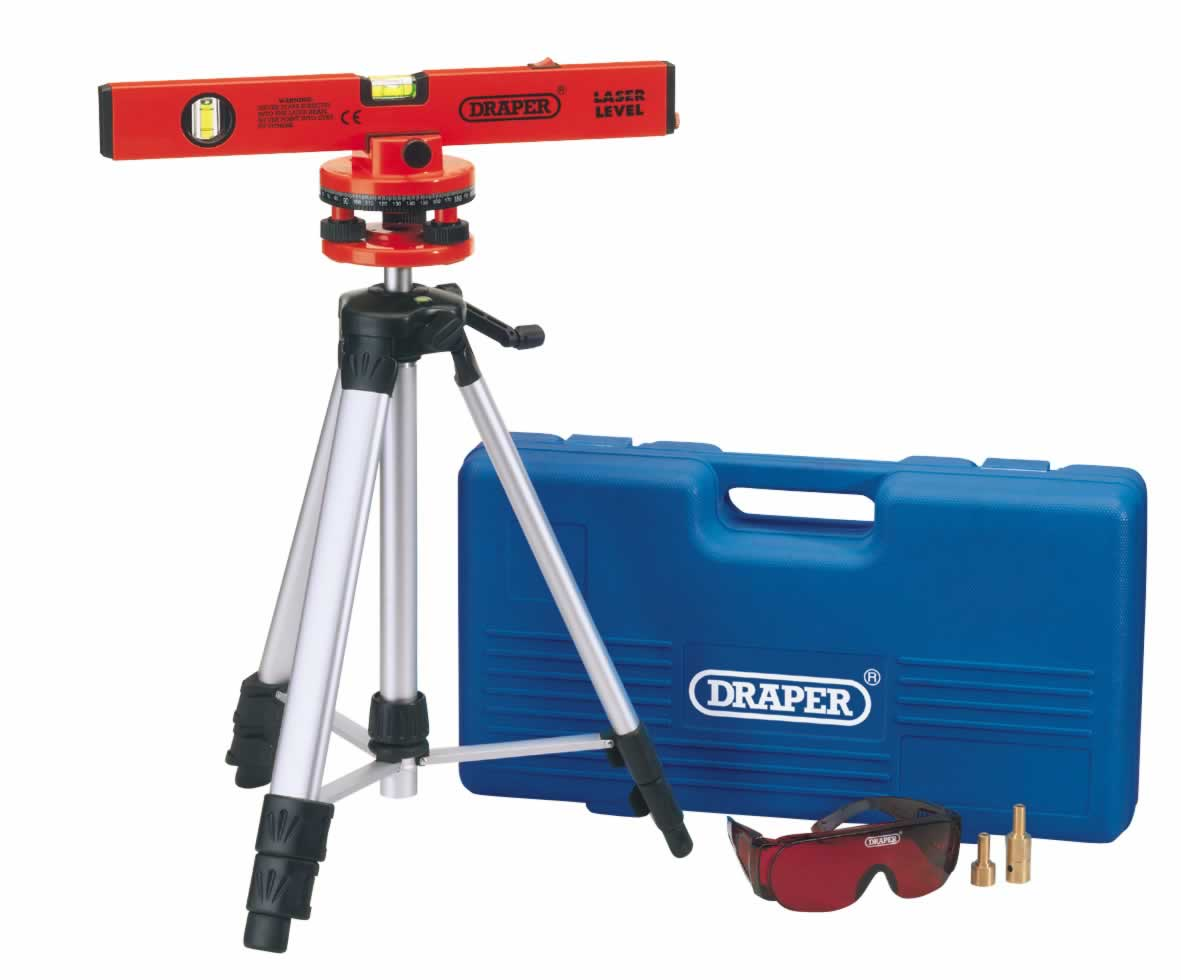 400MM CLASS 2 LASER LEVEL KIT WITH 360° SWIVELLING TRIPOD