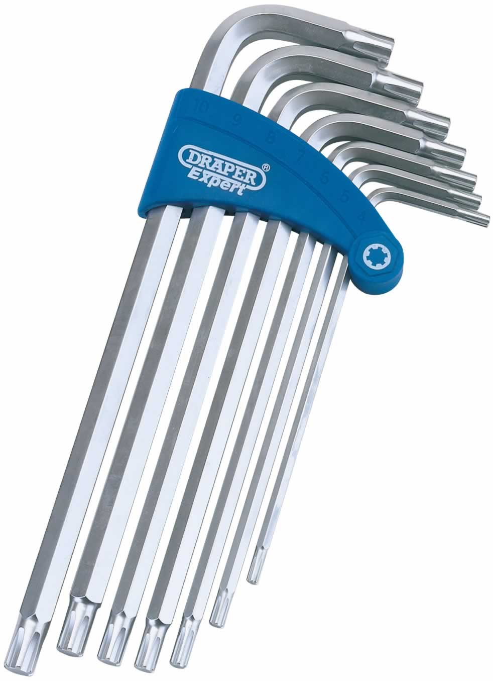 EXPERT 7 PIECE RIBE™ HEX KEY SET IN PLASTIC HOLDER