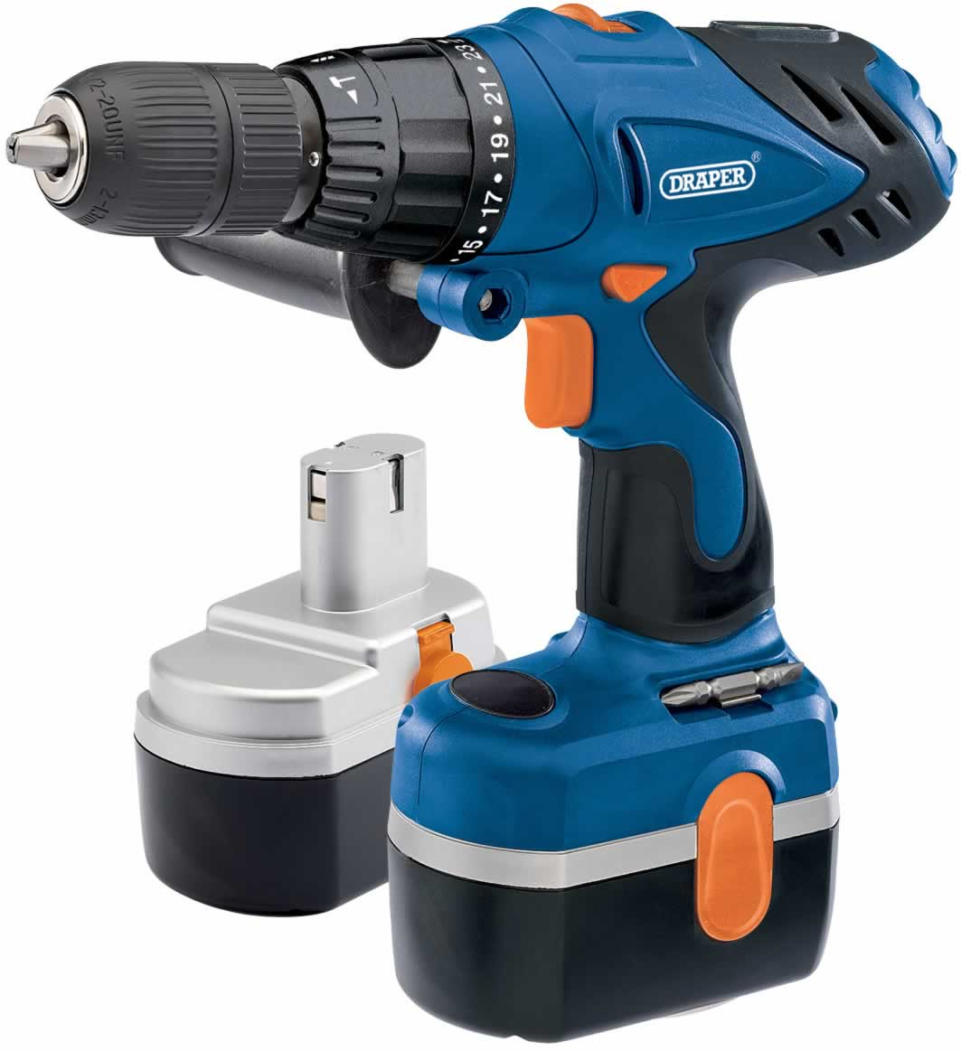 24V CORDLESS COMBI HAMMER DRILL KIT WITH TWO BATTERIES