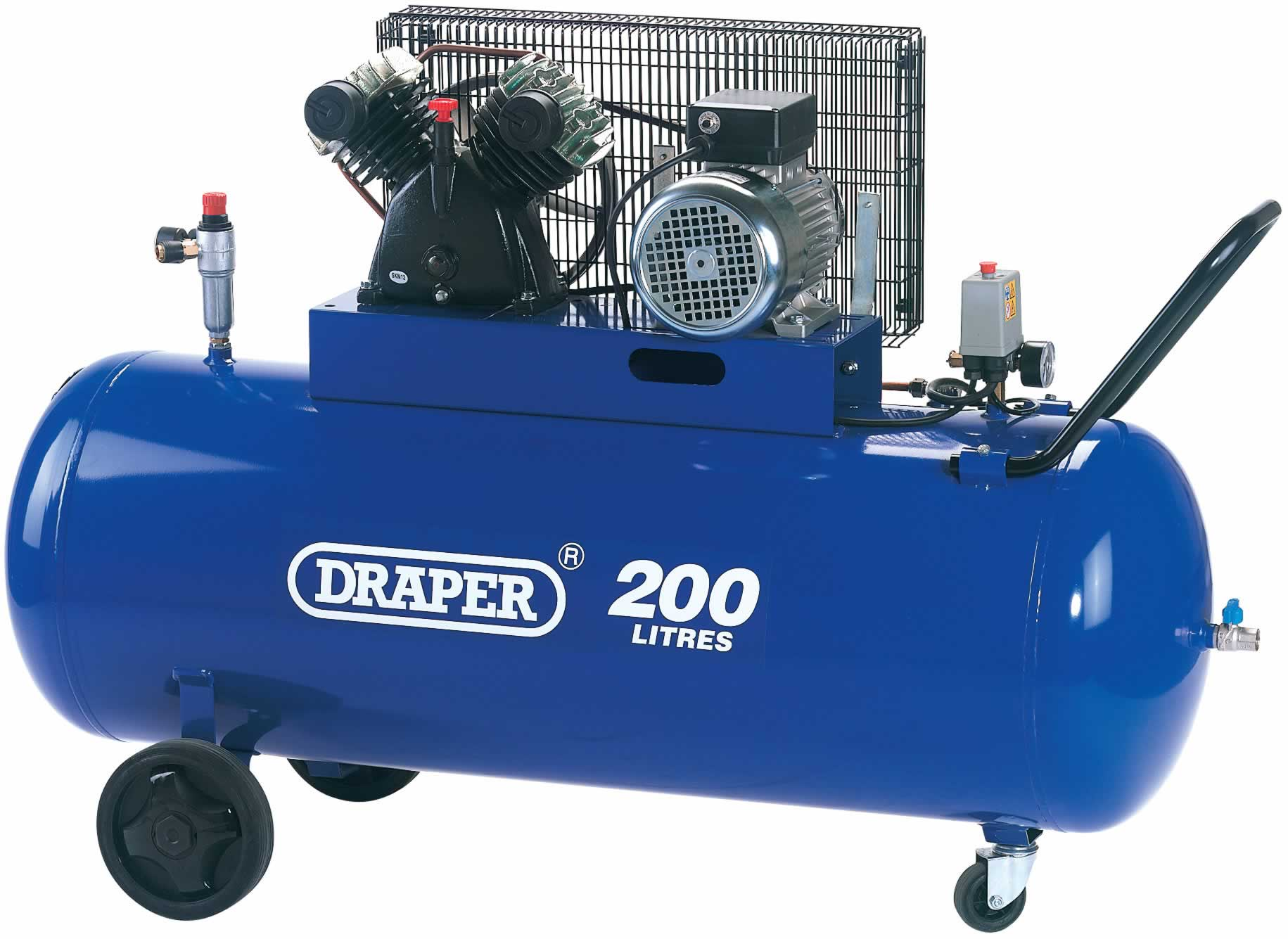 200L 230V V-TWIN BELT-DRIVEN AIR COMPRESSOR