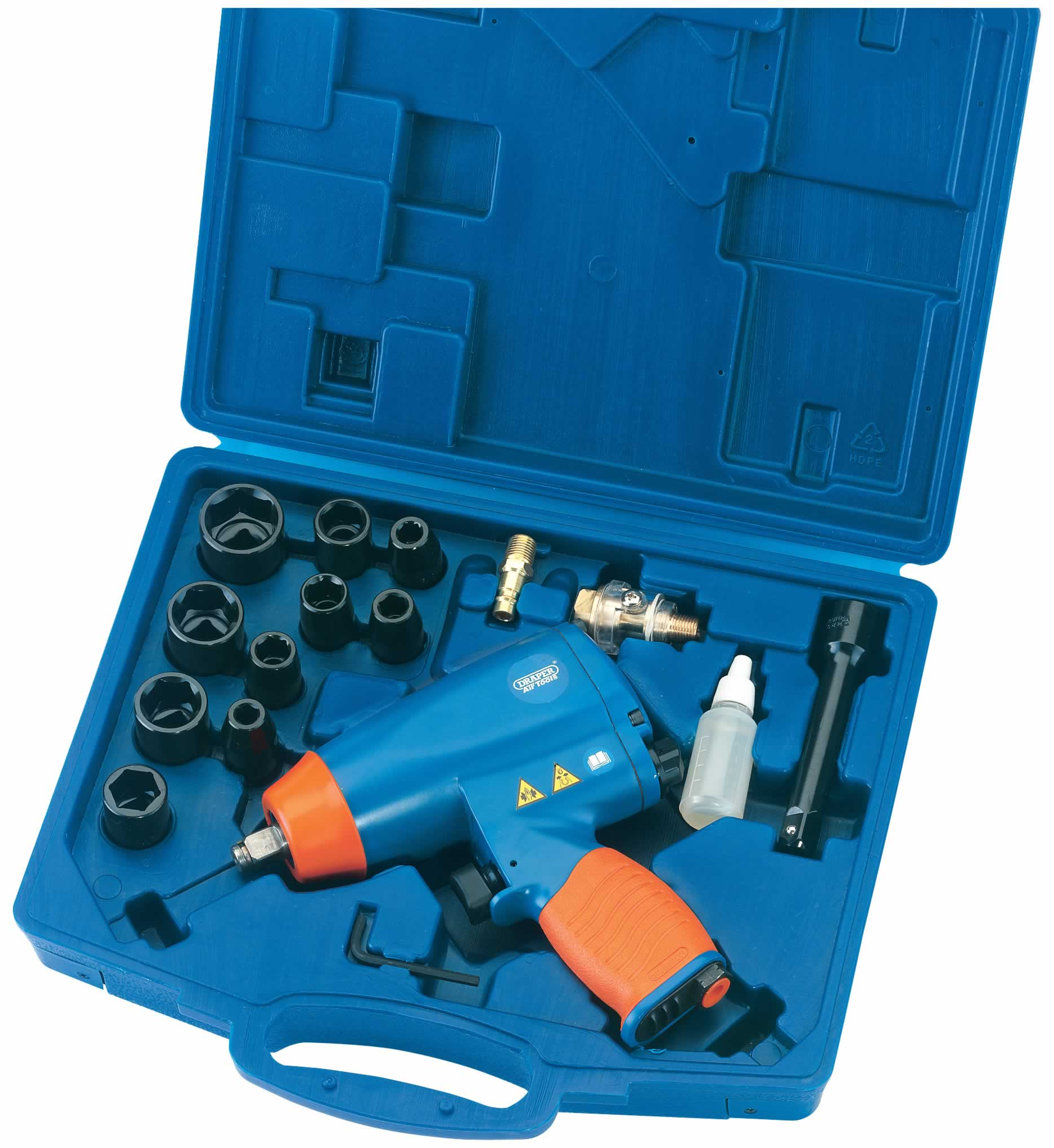 "16 PIECE 1/2"" SQ DR AIR IMPACT WRENCH KIT"