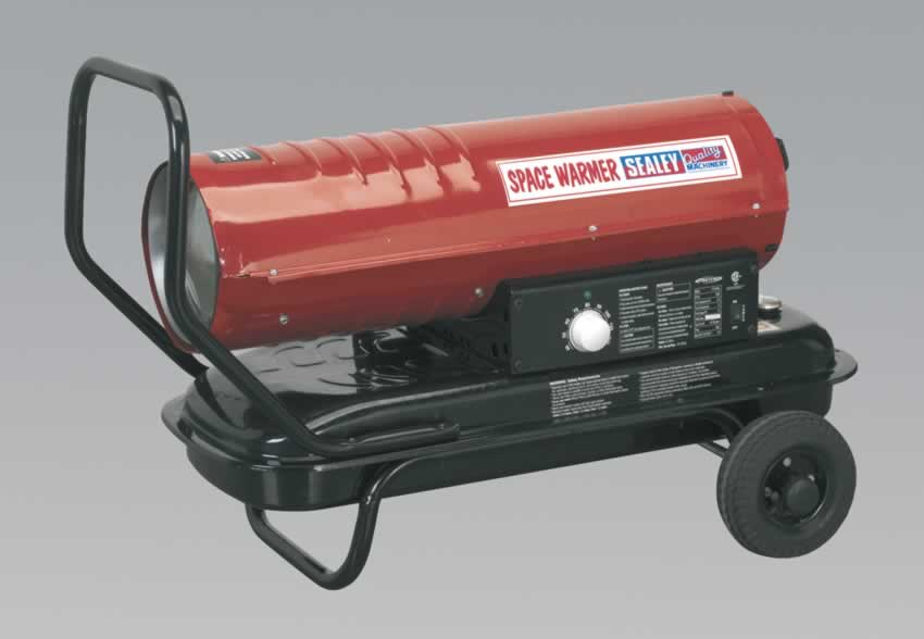 Space Warmer Paraffin/Kerosene/Diesel Heater 70,000Btu/hr with Wheels