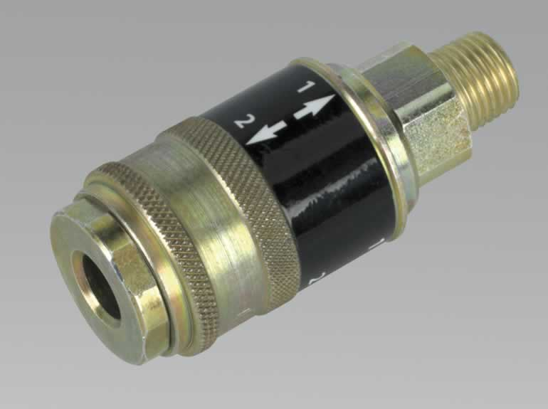 "Safety Coupling Body Male 1/4""BSPT"