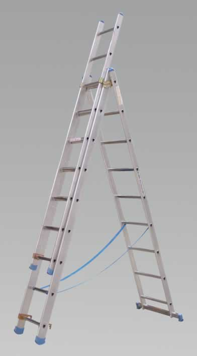 Aluminium Extension Combination Ladder 3x9 EN131