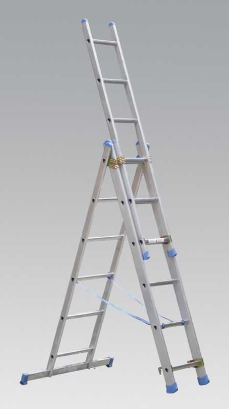 Aluminium Extension Combination Ladder 3x6 EN131