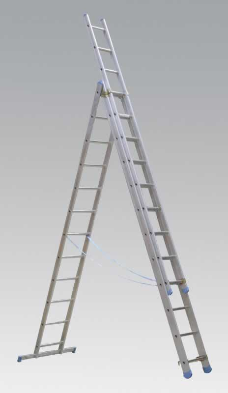 Aluminium Extension Combination Ladder 3x12 EN131