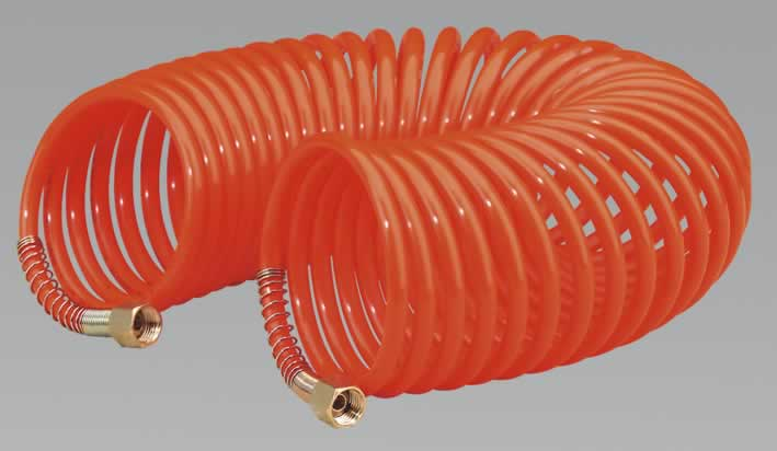 "Coiled Air Hose 10mtr x Ø6mm 1/4""BSP"