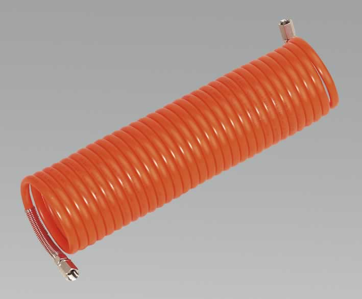 "Coiled Air Hose 10mtr x Ø8mm 1/4""BSP"