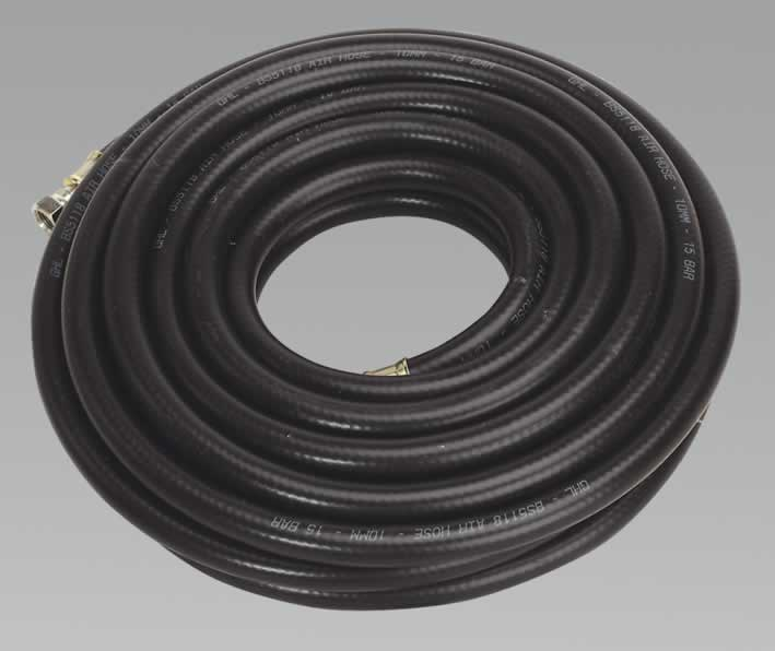 "Air Hose 10mtr x Ø10mm with 1/4""BSP Unions Heavy-Duty"