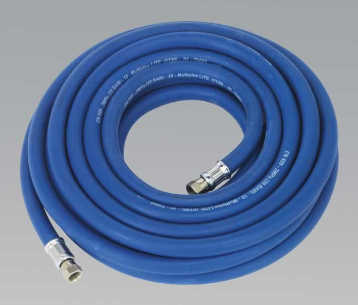 "Air Hose 5mtr x Ø10mm with 1/4""BSP Unions Extra Heavy-Duty"